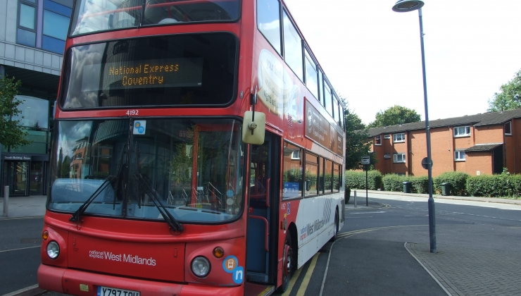 National Express Donates Double Decker Bus to Coventry College