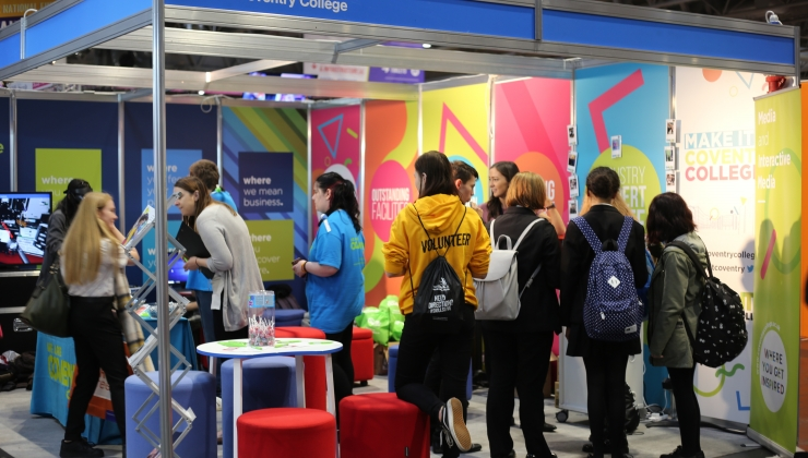 Coventry College staff and students welcome visitors at World Skills UK